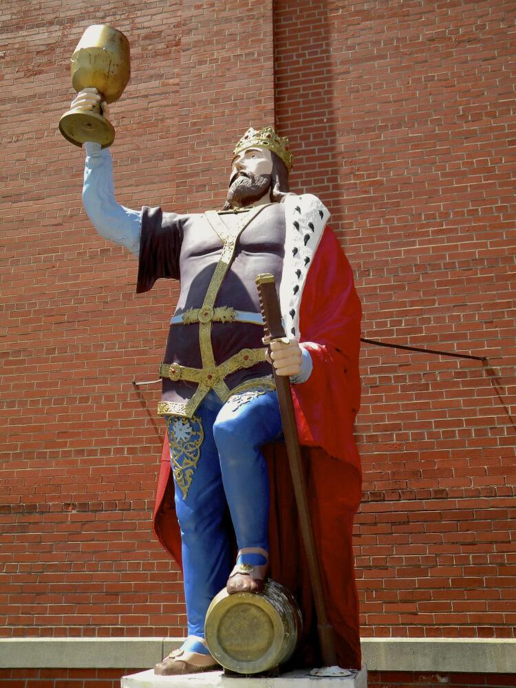 Wisconsin Historical Markers: King Gambrinus, Patron Saint