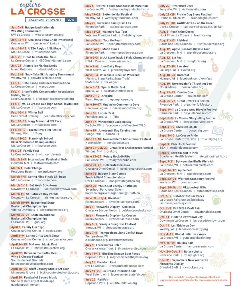 La Crosse County's #1 Events Calendar