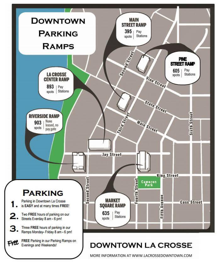 Parking Ramps Downtown La Crosse, WI