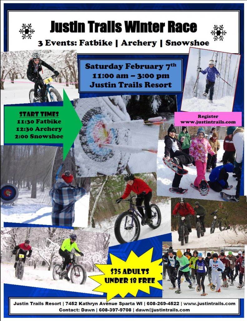 Justin Trails Winter Race Poster