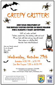 "Creepy Critters: ""Trick or Treat"" on the Refuge! @ Upper Mississippi River National Wildlife and Fish Refuge Visitor Center 