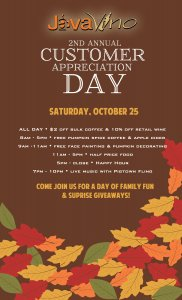 2nd Annual Customer Appreciation Day @ JavaVino | La Crosse | Wisconsin | United States