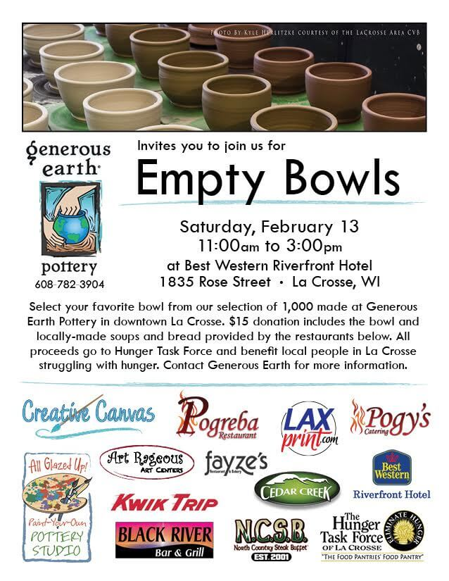 Empty Bowls @ Best Western River Front Hotel | La Crosse | Wisconsin | United States