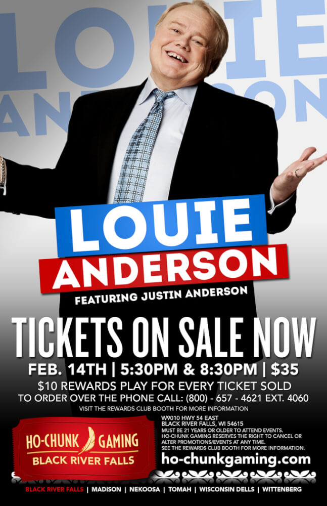 Louie Anderson LIVE @ HO-CHUNK GAMING BLACK RIVER FALLS   Black River Falls   Wisconsin   United States