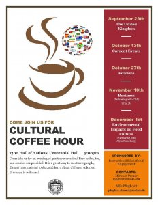 Cultural Coffee Hour hosted by IEE @ 1300 Centennial Hall | La Crosse | Wisconsin | United States