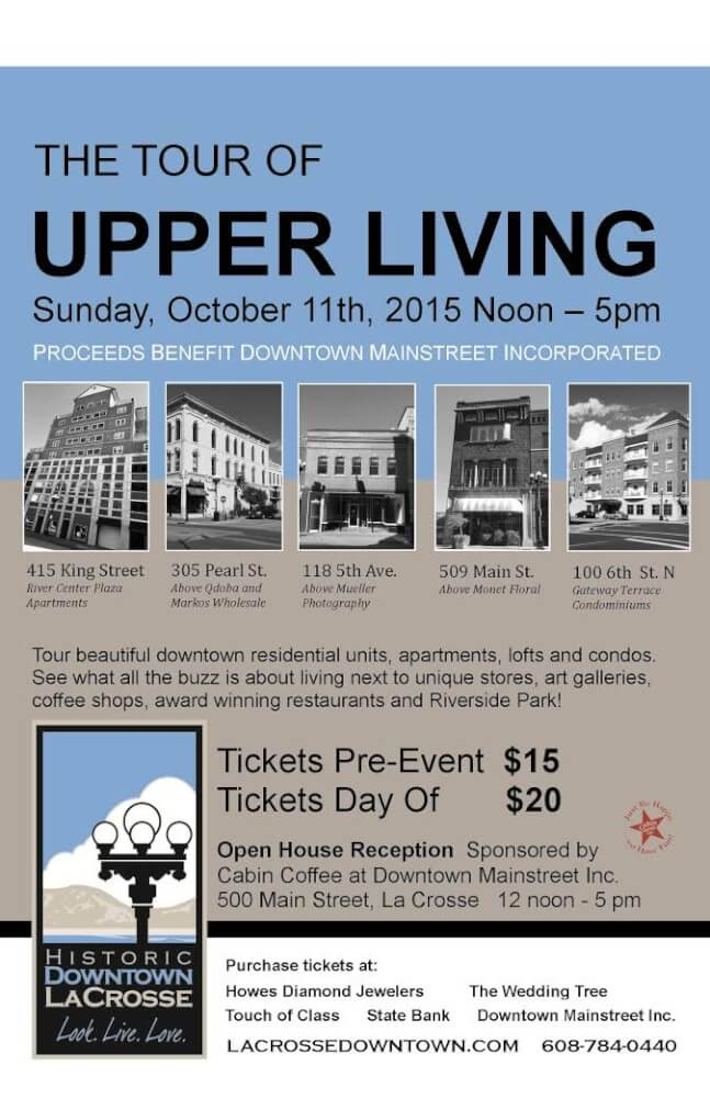 The Downtown Tour of Upper Living @ Downtown Main Street | La Crosse | Wisconsin | United States