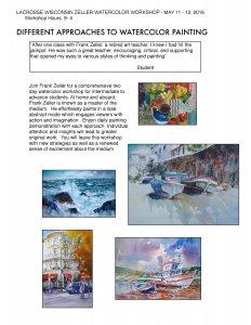 Frank Zeller 2-Day Watercolor Workshop @ Instructional painting/design workshop for all levels   Wisconsin   United States