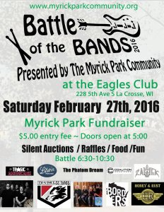 Battle of the Bands presented by Myrick Park Community @ Eagles Club   La Crosse   Wisconsin   United States