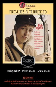 Deece Productions presents: A Tribute to Bob Dylan @ The Court Above Main | La Crosse | Wisconsin | United States