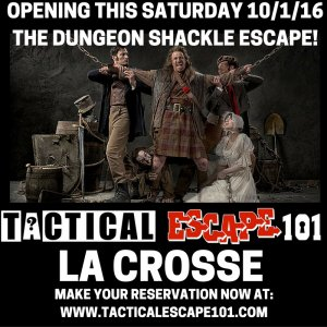 Jinsaw's Dungeon Shackle Escape Room Opens @ Tactical Escape 101 | La Crosse | Wisconsin | United States