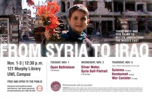 From Syria to Iraq: Open Bethlehem @ 121 Murphy Library