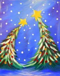 Sip & Paint Dancing Christmas Trees Canvas Painting Class @ Creative Canvas and Board   La Crosse   Wisconsin   United States