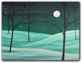 sip paint peaceful night canvas painting class explore