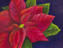 Sip & Paint Poinsettia Canvas Painting Class @ Creative Canvas and Board   La Crosse   Wisconsin   United States