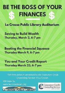 Saving to Build Wealth @ La Crosse Public Library | La Crosse | Wisconsin | United States