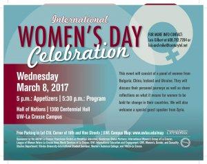 International Women's Day Panel @ UWL Centennial Hall, Hall of Nations | La Crosse | Wisconsin | United States