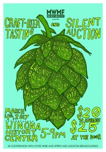 MWMF Craft Beer Tasting & Silent Auction @ Winona History Center | Winona | Minnesota | United States