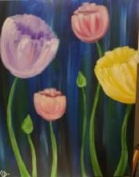 Sip & Paint Tulips in the Rain @ Creative Canvas and Board | La Crosse | Wisconsin | United States