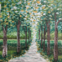 Sip & Paint Wooded Path Canvas @ Creative Canvas and Board | La Crosse | Wisconsin | United States