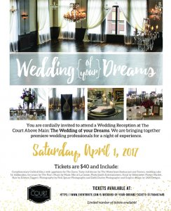 Experience Your Dream Wedding Reception @ The Court Above Main | Houston | Texas | United States