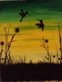 Sip & Paint Humingbird Dance @ Creative Canvas and Board | La Crosse | Wisconsin | United States