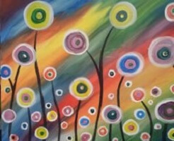 Circle Garden Painting Class @ Creative Canvas and Board | La Crosse | Wisconsin | United States