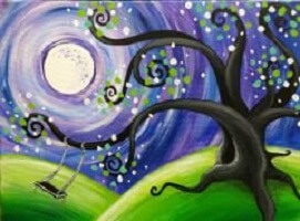 Whimsical Tree Painting Class @ Creative Canvas and Board | La Crosse | Wisconsin | United States