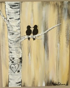 Birch Tree Birds Painting Class @ Creative Canvas and Board | La Crosse | Wisconsin | United States