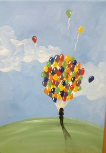 Balloons Canvas Painting Class @ Creative Canvas and Board | La Crosse | Wisconsin | United States