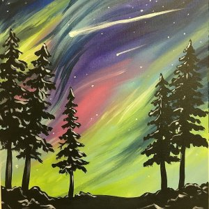 """""""Star Gazer"""" Canvas Painting Class @ Creative Canvas and Board 