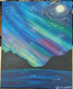 Aurora Painting Class @ Creative Canvas and Board