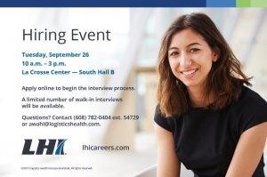 LHI Hiring Event On-Site Interviews @ La Crosse Center- South Hall B | La Crosse | Wisconsin | United States