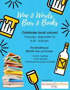 Wine & Words, Beer & Books @ The Brickhouse | La Crosse | Wisconsin | United States