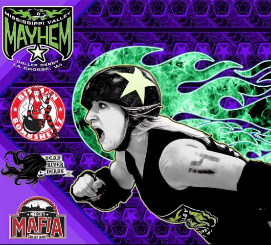 Mississippi Valley Mayhem presents roller derby Tournament July 13-14
